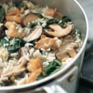 Rice with Chicken, Mushrooms and Chard