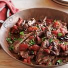 Braised Lamb Shoulder Chops with Tomatoes and Rosemary