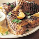 Indian-Spiced Grilled Chicken Legs with Raita