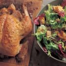 Roasted Chicken with Warm Winter Greens Salad