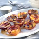 Grilled Peaches with Cardamom Cream