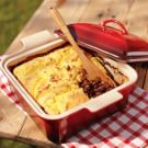 Baked Bean and Spoon Bread Cobbler