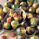 Vinegar-Glazed Brussels Sprouts with Chestnuts and Walnut Oil