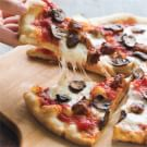 New York–Style Sausage and Mushroom Pizza