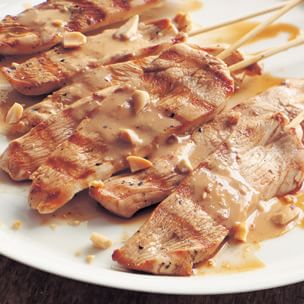 Grilled Chicken Skewers with Peanut-Ginger Sauce ...