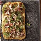 Pizza Bianca with Prosciutto and Fig