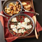 Breakfast Skillet with Green Onion Home Fries
