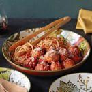 Braised Turkey Meatballs with Quick Tomato Sauce