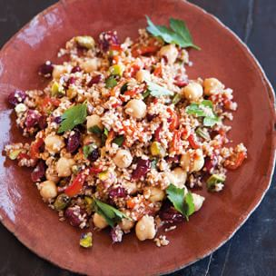 Bulgur Salad with Roasted Peppers, Chickpeas and ...