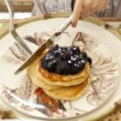 Lemon-Ricotta Pancakes with Blueberry Compote