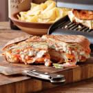 Buffalo Chicken Panini with Blue Cheese-Celery Slaw