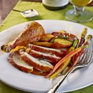 Lemon Roasted Chicken with Rainbow Carrots and Fingerling Potatoes