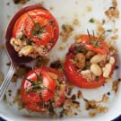 Baked Tomatoes with Tuna, White Beans and Bread Crumbs