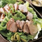Roasted Pork Tenderloin and Cornichon Salad