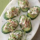 Crab and Cucumber Canapés