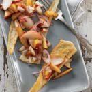 Fried Pecorino with Stone-Fruit Salsa