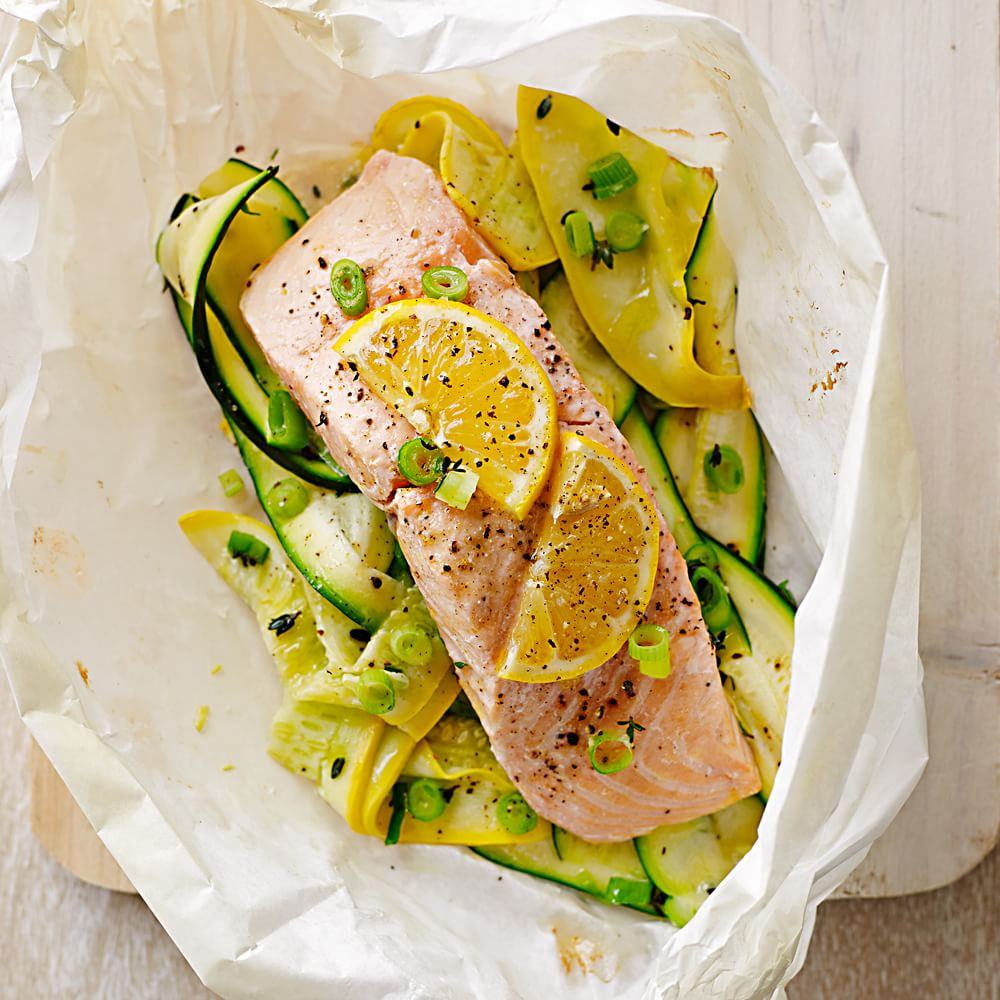 salmon and summer squash en papillote williams sonoma