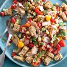 Panzanella Salad with Tomatoes, Chickpeas and Tuna