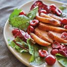 Bitter Greens with Duck Breast and Cherries