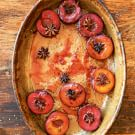 Roasted Spiced Black Plums