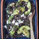 Black Quinoa Salad with Lemon, Avocado and Pistachios