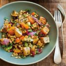 Wheat Berries with Roasted Parsnips, Butternut Squash and Dried Cranberries