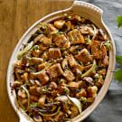Gluten-Free Focaccia Stuffing with Mushrooms and Fennel