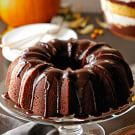 Pumpkin Bundt Cake with Chocolate Glaze