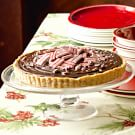 Chocolate Tart with Peppermint Snaps