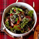 Kale Salad with Roasted Fuji Apples and Pomegranate