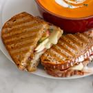 Apple and Cheddar Panini with Onion Jam