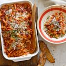 Baked Pasta with Tomato-Basil Sauce