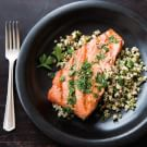Salmon with Quinoa and Parsley Vinaigrette