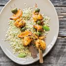 North African Chicken Skewers with Couscous