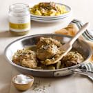 Chicken Thighs with Meyer Lemon and Artichoke Sauce