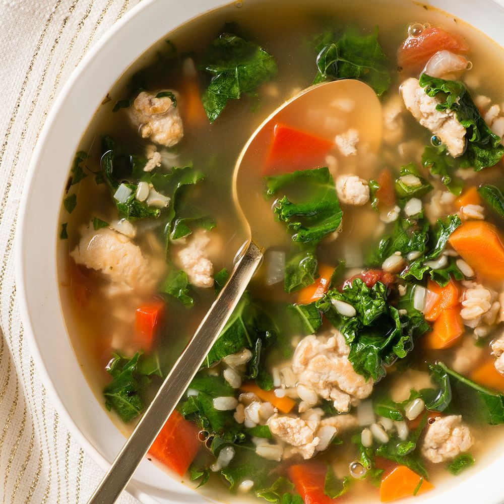 Turkey, Kale and Brown Rice Soup Williams-Sonoma