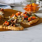 Pizza with Butternut Squash, Wild Mushrooms and Artichoke Sauce