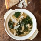 Parmesan Broth with Lemon, Chicken and Spinach
