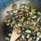 Stir-Fried Zucchini and Shiitakes