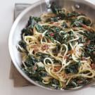 Spaghetti Carbonara with Black Kale