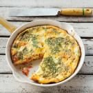 Smoked Salmon Frittata with Goat Cheese and Chives