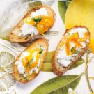 Crostini with Ricotta Cheese and Tangerine Marmalade