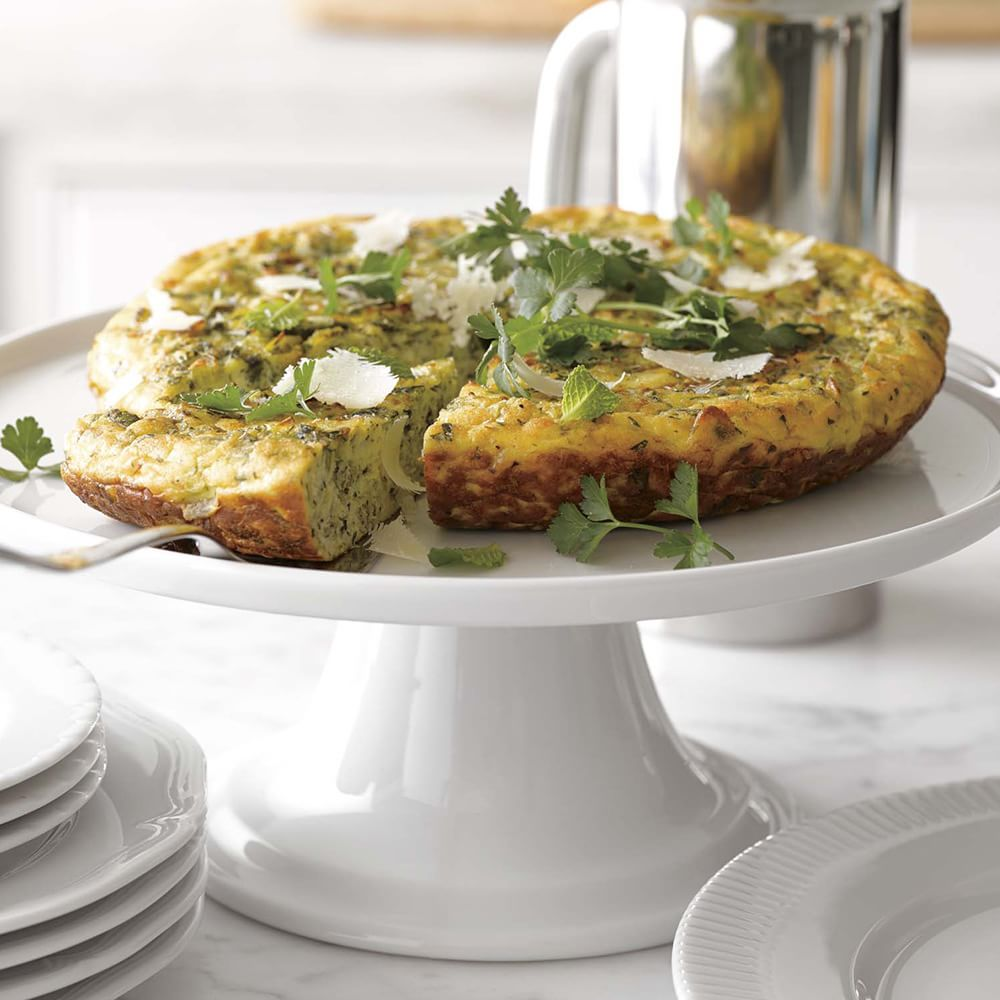 Frittata with Mixed Herbs, Leeks and Parmigiano-Reggiano Cheese ...