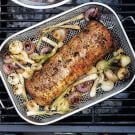 Grill-Roasted Pork Loin with Onions