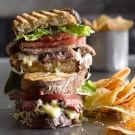 Steak Panini with Gruyère and Savory Onion Jam