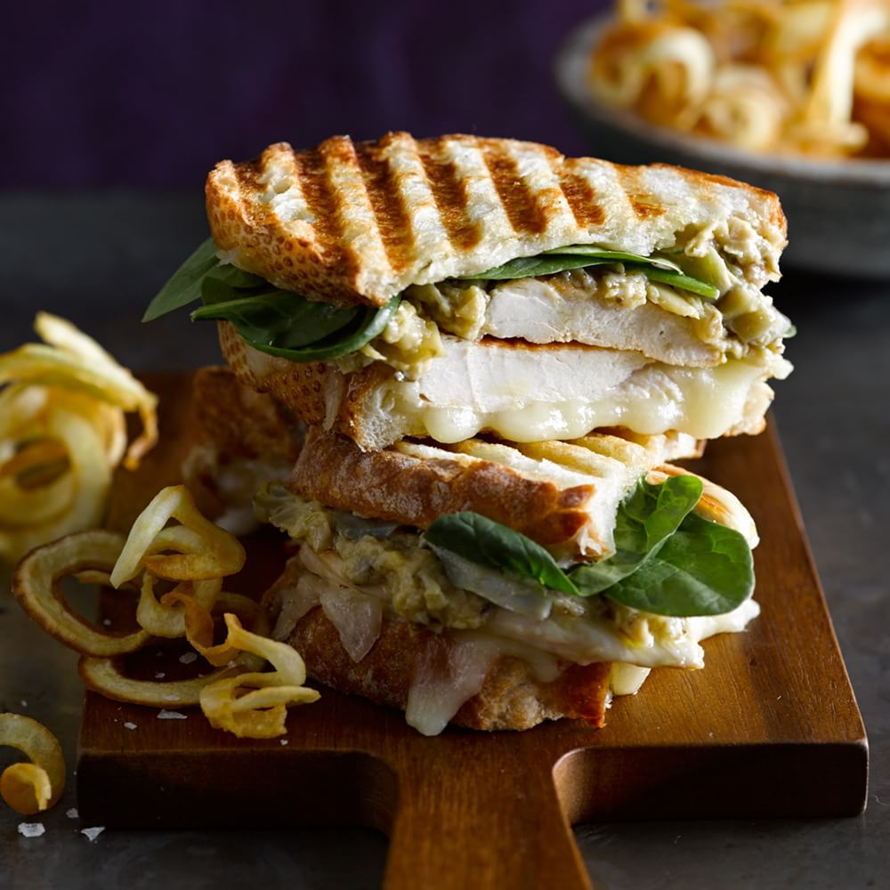 Chicken Panini with Artichoke Parmesan Spread | Williams Sonoma