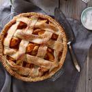 Salted Caramel Apple Pie with Lattice Crust