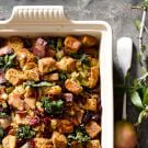 Gluten-Free Stuffing with Bacon and Kale