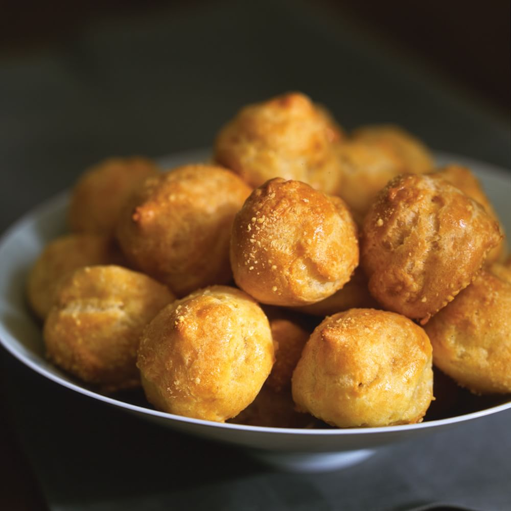 White Cheddar and Chive Gougères | Williams-Sonoma