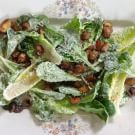 Caesar Salad with Anchovy-Parmesan Potato Croutons